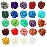 Mica Powder, Lip Gloss Pigment Powder 24 Colors, for Handmade Soap Making Colorants,Epoxy Resin Dye,Candle Making,Eye Shadow,Blush,Nail Art,Resin Jewelry,Paint,Craft Projects