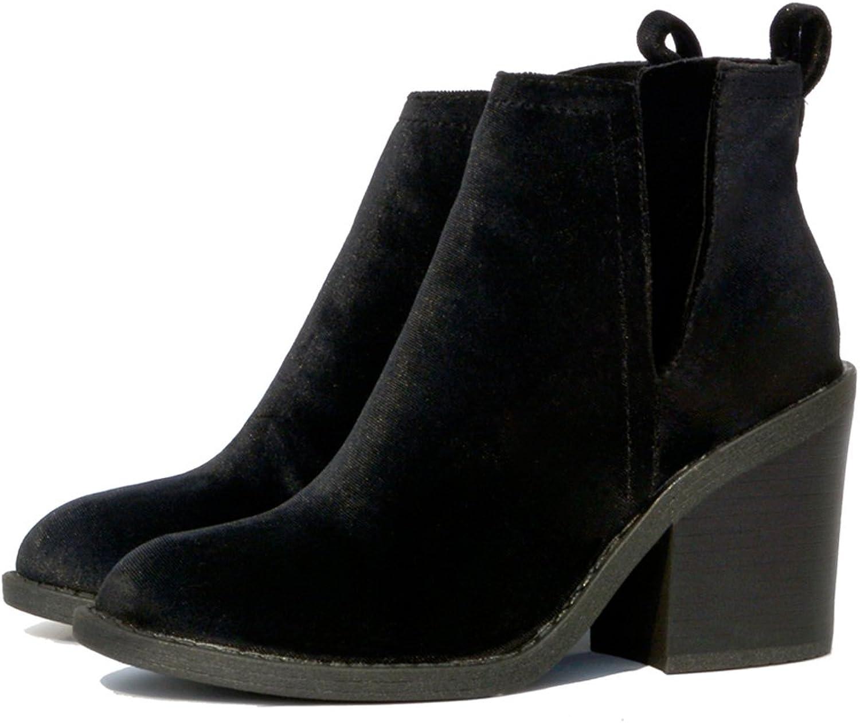 NINGUTA high Heels Chelsea Boots Women Sping Autumn shoes Woman