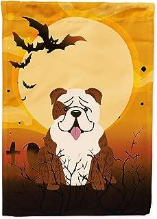 Caroline's Treasures BB4387GF Halloween English Bulldog Brindle White Garden Size Flag, Small, Multicolor