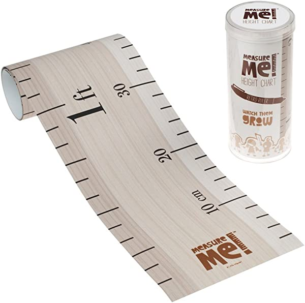 Little Wigwam Measure Me Baby Roll Up Growth Height Chart For Children Kids Room Retro Ruler