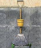 ZWL Godet de fleurs créatives, suspendue, mur, fer, pot de fleurs, fourche à...