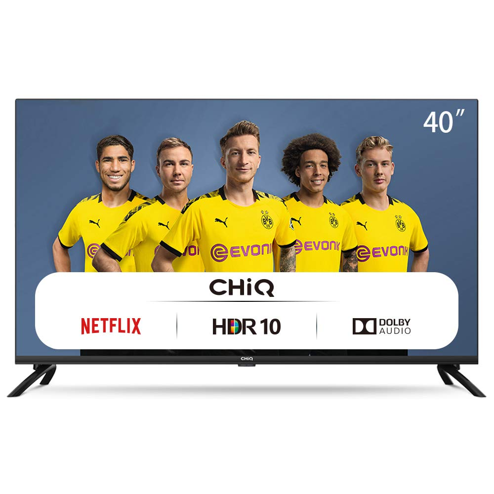 CHiQ Televisor Smart TV LED 40 Pulgadas FHD, HDR, WiFi, Bluetooth, Youtube, Netflix, Prime Video, 3 x HDMI, 2 x USB: Amazon.es: Electrónica