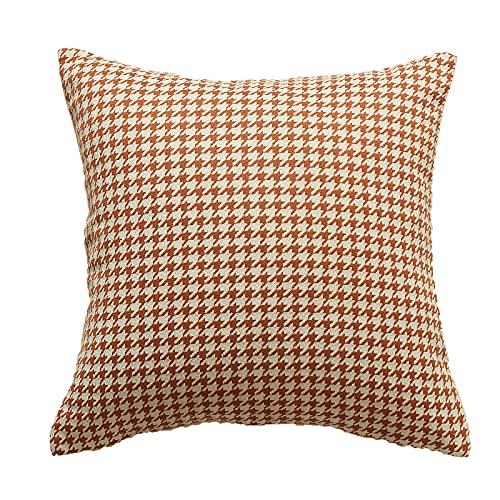 HXHBD Funda de almohada de lunares, color caramelo, cojín de patrón de punto, se puede colocar en la almohada de cintura de salón de oficina, sofá de cama, estilo de decoración de café4-45x45