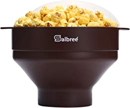 Original Salbree Microwave Popcorn Popper, Silicone Popcorn Maker, Collapsible Bowl BPA Free - 20+ Colors Available (Choco...