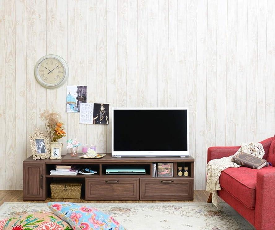 洗剤ディスパッチまたはどちらか日用品 テレビ ボード TVボード テレビ台 ローボード(伸縮120?215cm幅) 次回入荷:調整中 ブラウン