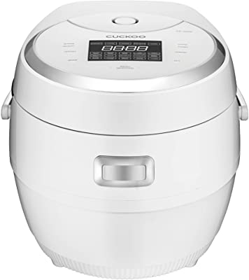 CUCKOO 10-cup Multifunctional Micom Rice Cooker and Warmer – 16 built-in programs including White rice, Mixed rice, GABA rice, Thin Porridge, Thick Porridge, Scorched rice, Soup, Soy Milk, Yogurt, Baby Food, Slow Cook, Multi Cook, Turbo, Warm, Reheat and Auto Clean, CR-1020F, White/Silver (10 cups uncooked [1.8 liters])