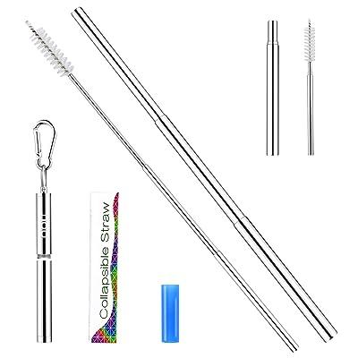 Telescopic Reusable Straws - OOU Portable Stain...