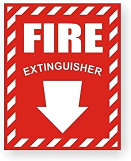 1-Pc Indefectible Popular Fire Extinguisher Car Sticker Signs Boat Decals Industrial Emblem Truck Decor Size 3-3/4