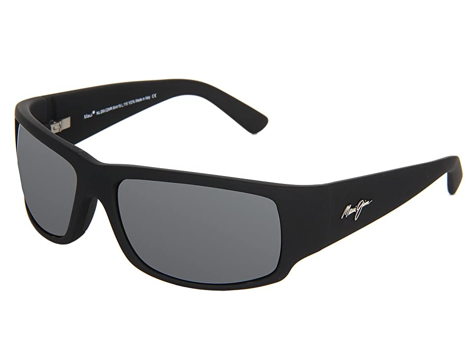 Maui Jim World Cup (Matte Black Rubber/Neutral Grey) Sport Sunglasses