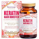 Reserveage, Keratin Hair Booster, Hair and Nails Supplement, Supports Healthy Thickness and Shine with Biotin, 120 capsules (60 servings)