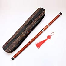 HUREN Professional Traditional Woodwind Flute Instrument BaWu Key F - China Transverse Bass Wood Wind Flute Ba Wu - Sandalwood Wooden Pipes Copper Reed Musical Flute