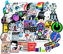 Vinyl Science Experiments Stickers Pack 51 Pcs Science Decals for Laptop Ipad Car Luggage..