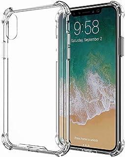 YaMiDe Xiaomi Redmi Note 7/Note 7 Pro ケース、[液晶保護フィルム2枚付き]、エアクッションバンパー、透明なエアクッションTPUケース、超耐衝撃性