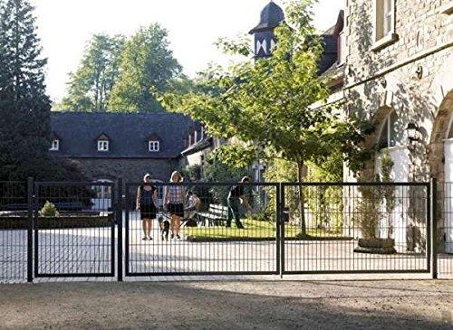 Einfahrtstor Toranlage 3-flügelig Grau Tor Hoftor Doppel Gartentor 600cm x 123cm