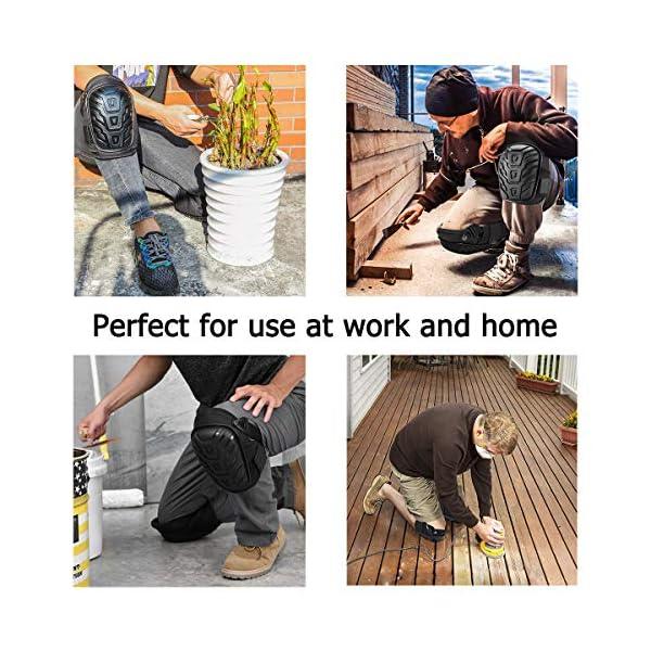 Rodilleras profesionales, para trabajo, CONSTRUCCIÓN, pisos, jardinería, limpieza, etc., rodilleras con fuertes correas antideslizantes y elástico ajustable, tiene buena resistencia a los golpes