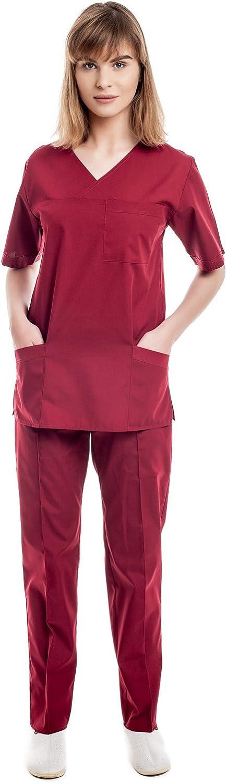 Uniformes Sanitario Pijama Mujer - 7 Tamaños A Medida Xs-3xl - Úsalo como Medico, Enfermera, Peluqueria, Veterinario, SPA, Fisioterapeuta Uniforme O ...