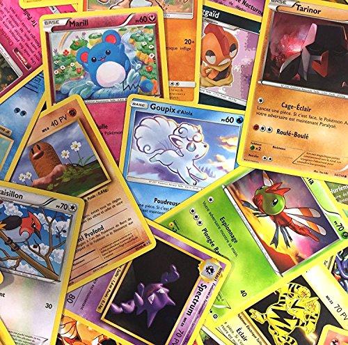Pokémon : Lot de 20 Cartes communes francaises sans doubles + 1 Carte Brillante Cadeau !
