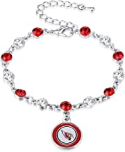 Pro Specialties Group NFL Arizona Cardinals Two Tone Crystal Bracelet