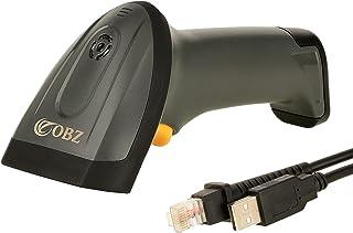 OBZ سلك ليزر الباركود ماسح ليزر محمول 1D ليزر ، قارئ رمز بار يعمل مع ويندوز، أندرويد، قارئ بار كود محمول مع كابل USB للمتج...