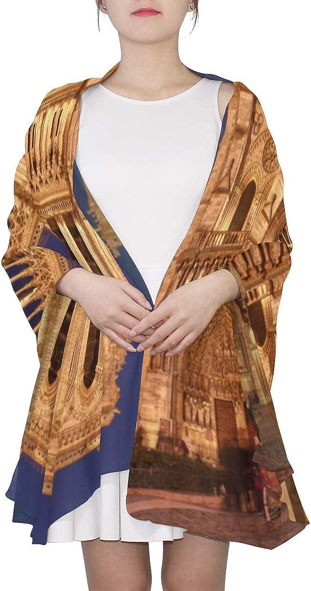 Scarf Wrap For Women Charming View Notre Dame De Paris Fashion Scarf Scarf Long Lightweight Lightweight Print Scarves Lightweight Scarfs For Women Summer Scarfs For Women