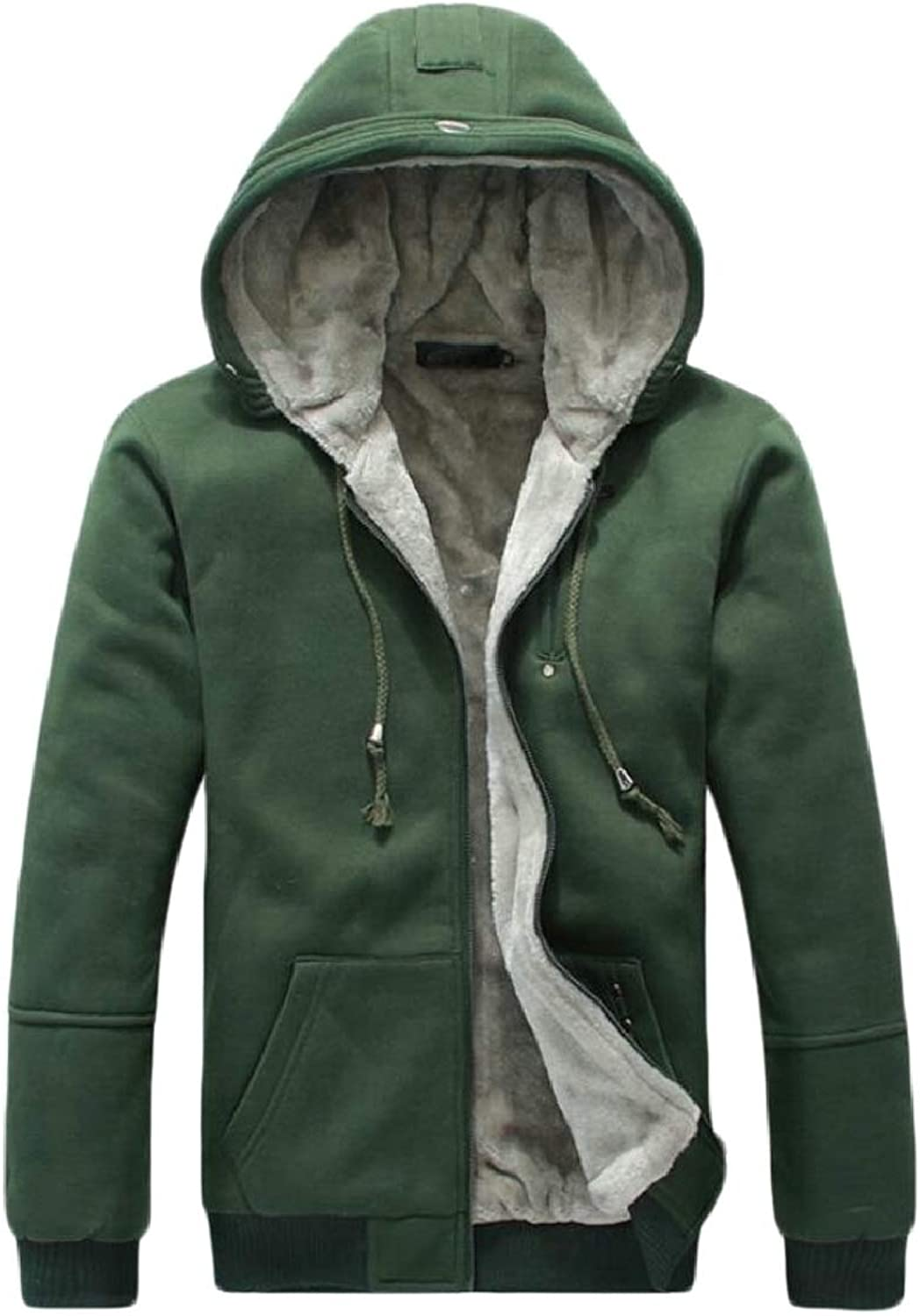 2a3f61eb60a4 Xswsy XG-CA Mens Casual Hoodie Front-Zip Solid color Fleece ...