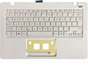 New English Laptop Replacement Keyboard for Asus F200 Series F200CA F200LA F200MA X200 X200C X200CA X200L X200LA X200M X200MA R202CA R202LA US Layout with C Shell (White)