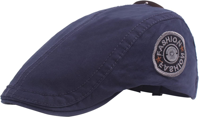 Direct store Fashion Max 50% OFF Men's Printed Newsboy Hat Summer Men Flat Gatsby Cap
