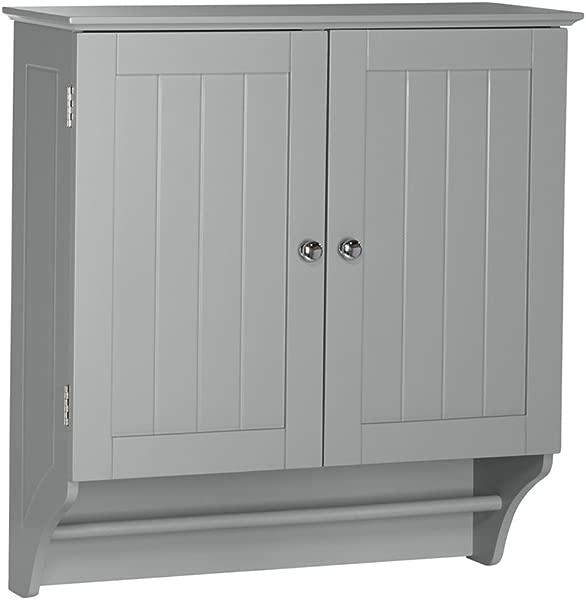 RiverRidge Ashland Collection Two Door Wall Cabinet Gray