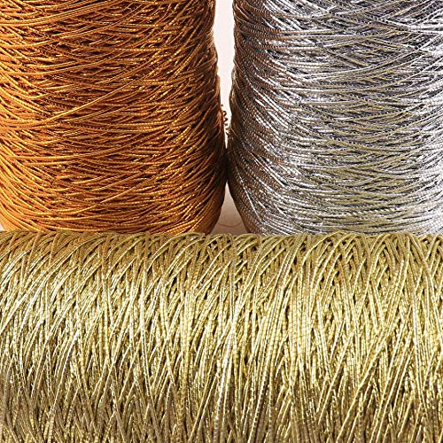 Crafts Cord Colorful Rope 0.5mm Elastic Rope Gold/Silver Ornaments String Bracelet Making Packing Wedding Florists Crafts Decoration - (Color: Gold 20m)