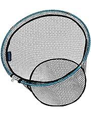 SANLIKE タモ網 玉網 ラバーネット アルミフレーム 釣りネット ランディングネット 折りたたみ玉枠 大型たも網 釣り成功率アップ (サイズ:40cm/45cm/50cm/55cm)
