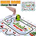 Kidswon Drawbot, Inductive Robot Follow Black Line Educational Toys, Creative Track Puzzle Race Learning STEM Set