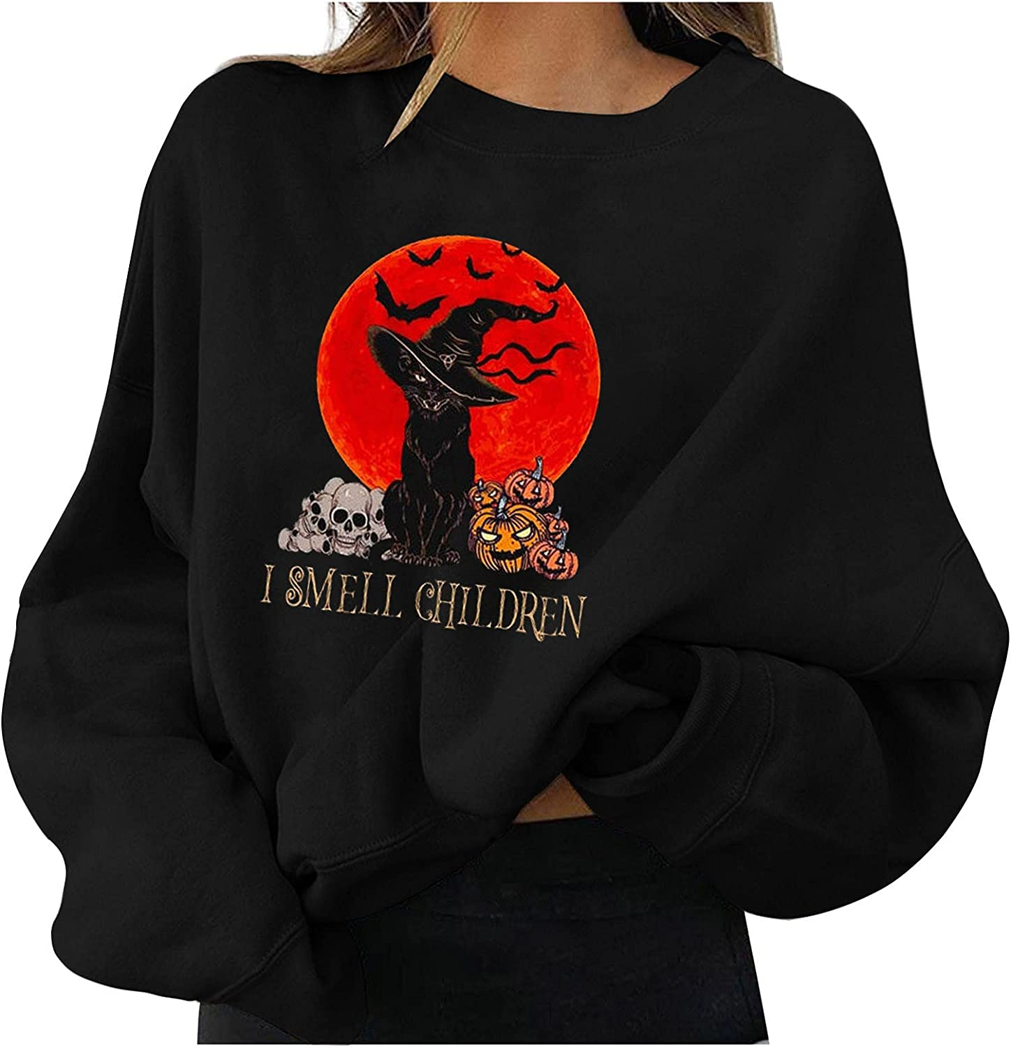 Crewneck Sweatshirts for Women, Women's Cardigan Sweaters for Women with Pocketes Long Sleeve Casual Lightweight Open Front Cardigan