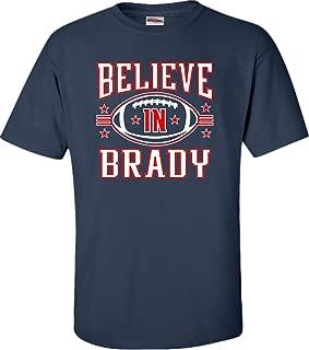 Adult Believe in Brady Football T-Shirt