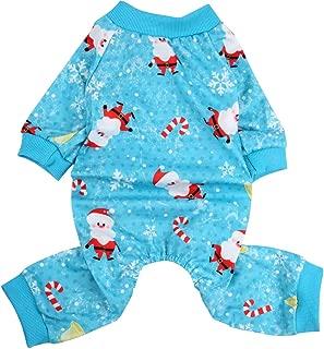 Lamphy Christmas Dog Pajamas Clothes Pet Costume Apparel Xmas Coat Jumpsuit