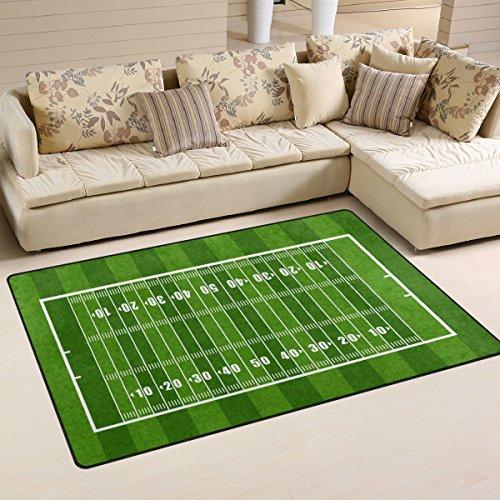 Use7 Sport American Football Field Area Teppich Anti-Rutsch-Fußmatte Fußmatten Wohnzimmer Schlafzimmer 50 x 80 cm