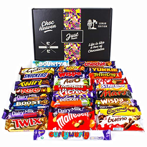 Chocolate Lovers Ultimate Hamper Lunar Box - Huge Selection of Your Favourite Chocolate Bars