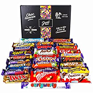 chocolate lovers hamper lunar box - selection of your favourite chocolate bars Chocolate Lovers Ultimate Hamper Lunar Box – Huge Selection of Your Favourite Chocolate Bars 61cT1u32 BL