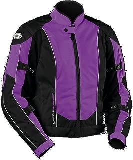 Castle Streetwear Womens Turbine Motorcycle Jacket - Grape - Size 12