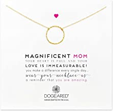 Dogeared Magnificent Mom Little Sparkle Karma Necklace Chain Necklace, 18
