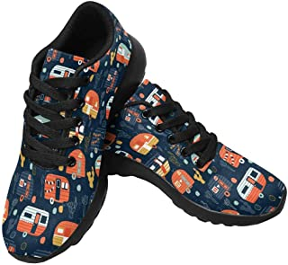 INTERESTPRINT Women's Sneakers Trail Running Shoes