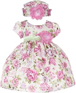 995586da82a Cinderella Couture Baby Girls Lavender Jacquard Floral Printed Adorned Hat  Easter Dress 6M