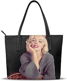 Cuero Bolso Marilyn Monroe Guitar Cigarette Leather Tote Shoulder Bags Handbags For Women Girl Or Student