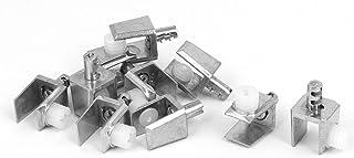sourcingmap® 10Pcs Abrazadera De Cristal 4Mm-8Mm De Espesor Rectángulo Ajustable Estantería De Cristal Soporte Pinza