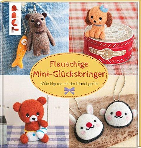 Flauschige Mini-Glücksbringer: Süße Figuren mit der Nadel gefilzt