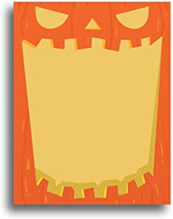 Jack-O-Lantern Halloween Fall Stationery Paper - 80 Sheets