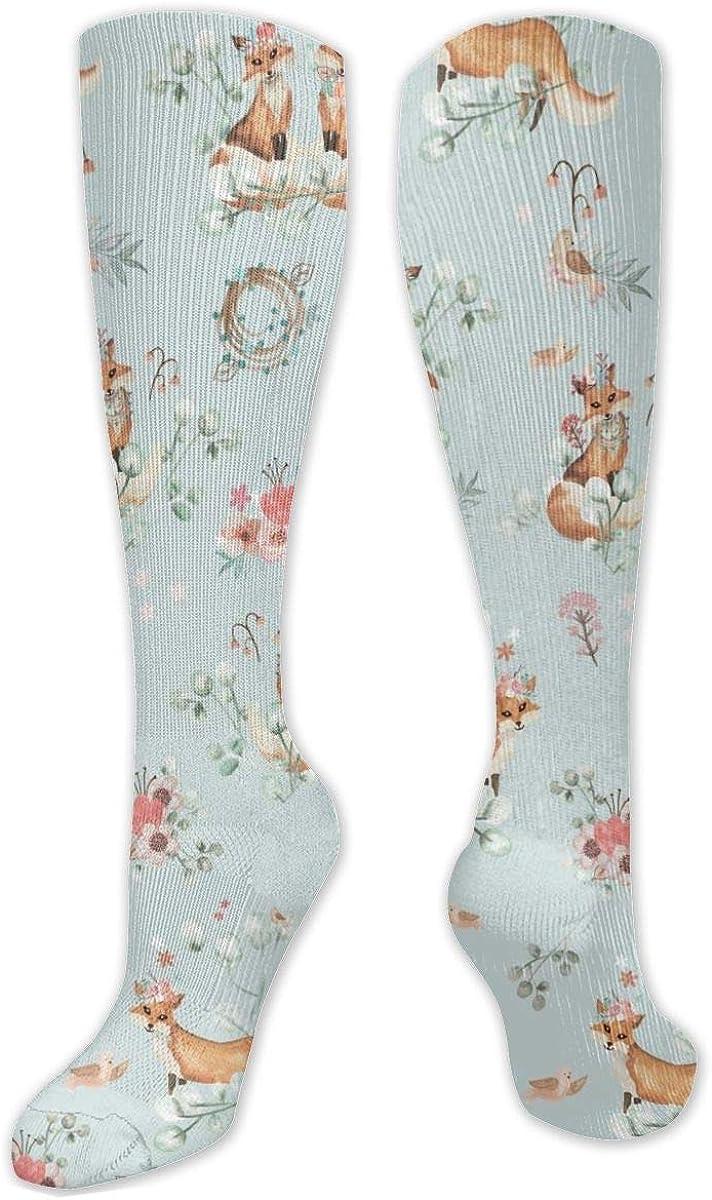Lovely Fox Knee High Socks Leg Warmer Dresses Long Boot Stockings For Womens Cosplay Daily Wear