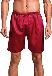 Men's Satin Boxers Underwear Shorts Luxury Silk Loungewear Pajama Short Pants