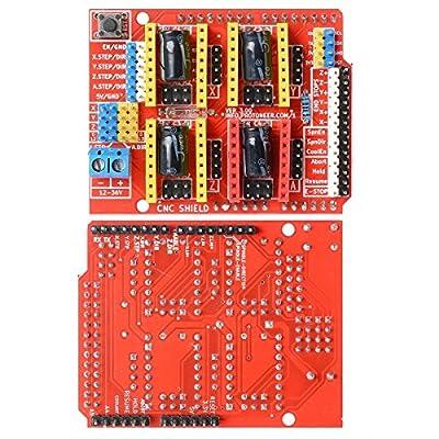 DollaTek V3 Engraver Shield 3D Printer CNC Expansion Board A4988 Driver Board