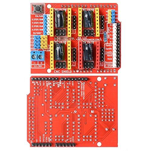 DollaTek V3 Engraver Shield 3D Drucker CNC Erweiterungskarte A4988 Treiber Board für Arduino