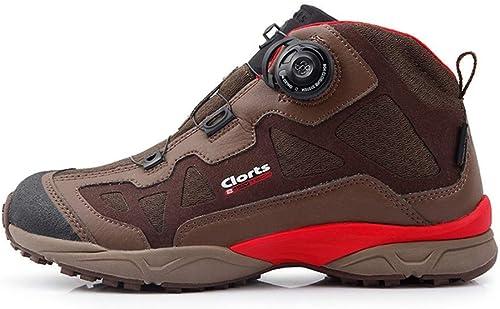 DSX Chaussures de Randonnée Imperméables Bottes de Randonnée pour Hommes, Système de Laçage Boa Chaussures de Randonnée, paniers de Montagne Anti-Dérapantes, Chaussures de randonnée, 7UK